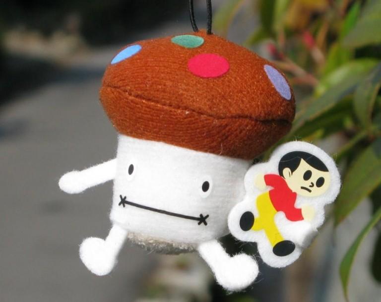 とびだしくんが滋賀のご当地名物として、あのドコモタケと一緒になって登場!